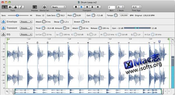 Mac平台的音乐样本编辑处理工具 : ReCycle