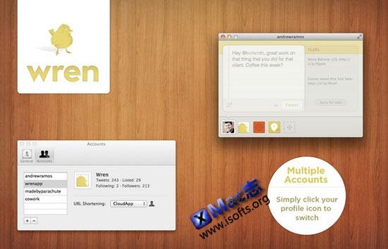 Mac平台简洁的发推工具 : Wren