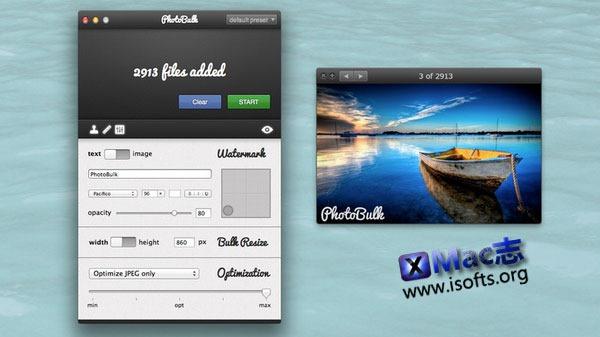 Mac平台的图片批量水印工具 : PhotoBulk