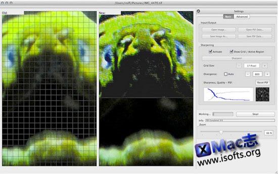 Mac平台的图像锐化及修图工具 : Photiosity