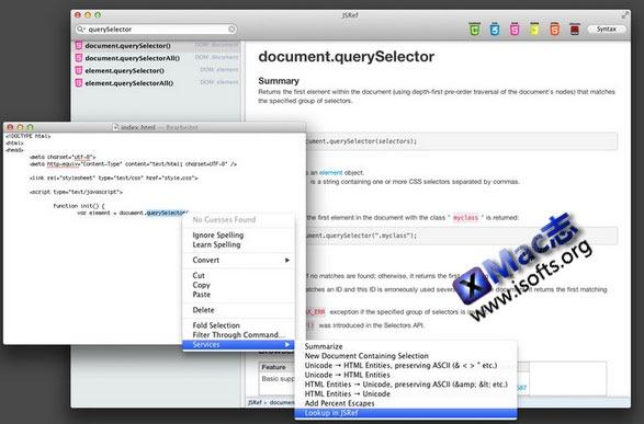 Mac平台的web开发工具 : JSRef