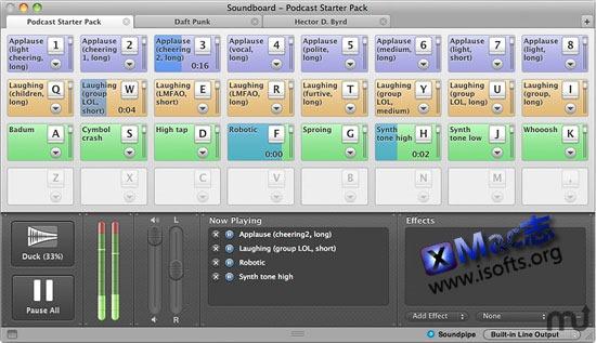 Mac平台实用的现场音效播放控制工具 : QCart