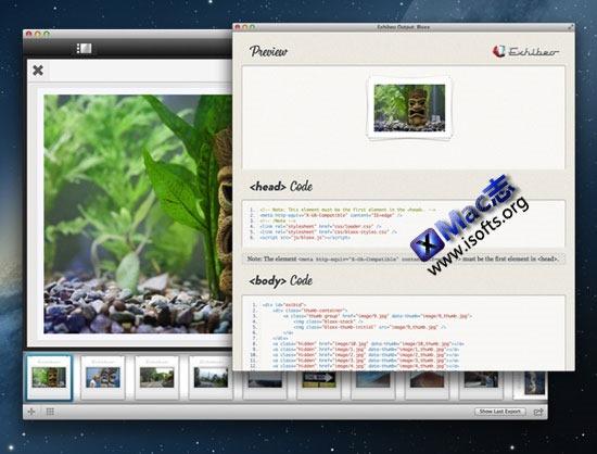 Mac平台的HTML5幻灯制作工具 : Exhibeo