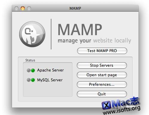 Mac平台的本地服务器搭建工具 : MAMP Pro