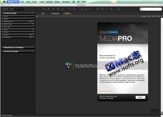 Mac平台的数码照片管理工具 : Media Pro