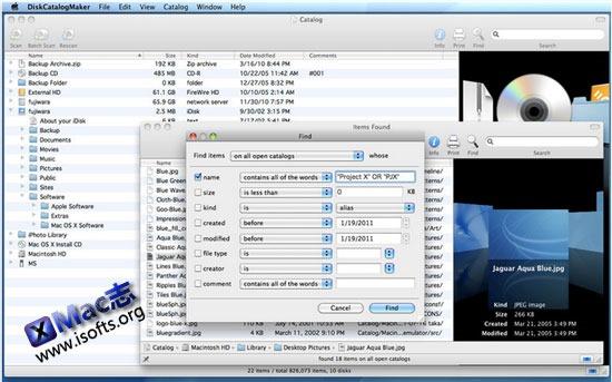 Mac平台的磁盘目录盘管理工具 : DiskCatalogMaker