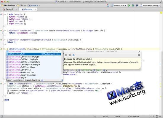 Mac OS X Objective-C的集成开发环境 : AppCode