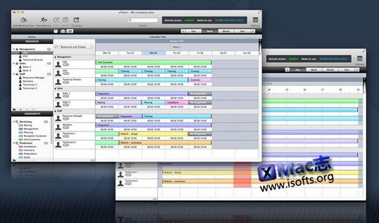 Mac平台专业的日程安排及工作进程管理工具 : XTeam