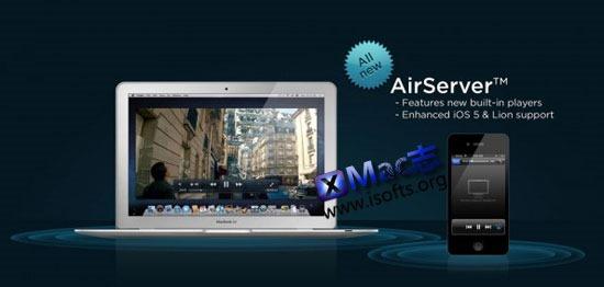 让Mac屏幕显示iPhone/iPad内容 : AirServer