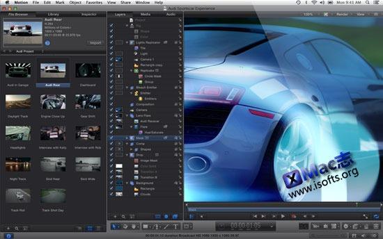 Mac平台的动态图片编辑工具 : Motion