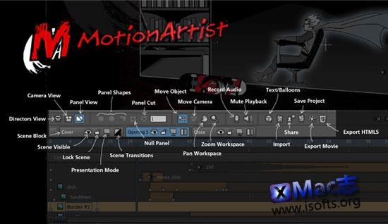 Mac平台强大的动画制作工具 : MotionArtist for Mac
