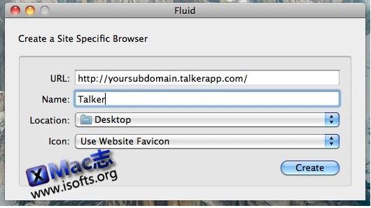 Mac平台将常用网页制作成为Mac快捷方式 : Fluid