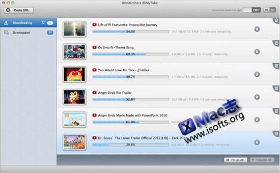 Mac平台的在线视频下载及视频转换工具 : AllMyTube
