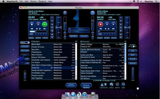 Mac平台的DJ混音工具 : Megaseg Pro
