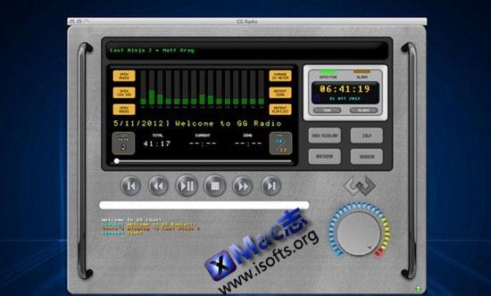 Mac平台优秀的广播和媒体播放器软件 : GG Radio