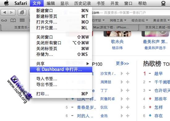 将局部网页内容作为Mac OS X的Dashboard Widget