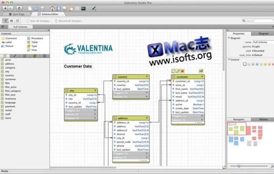Mac平台的数据库管理工具 : Valentina Studio