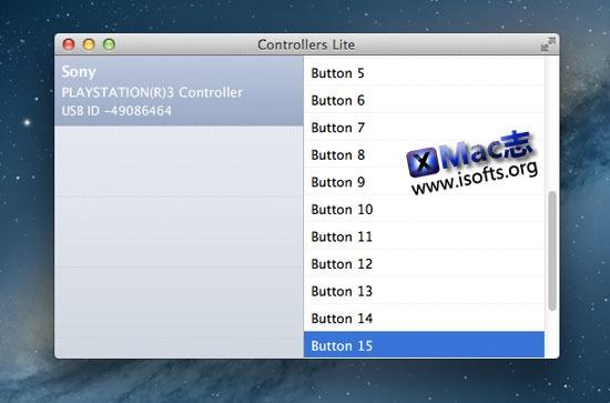 [Mac]游戏手柄控制器测试工具 : Controllers Lite