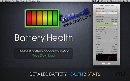 [Mac]Macbook电池健康状况体检工具 : Battery Health