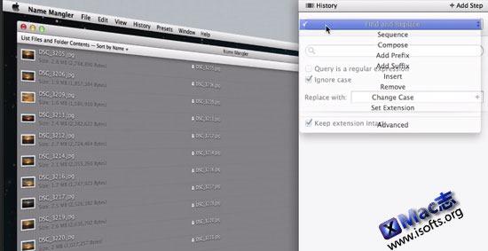 Mac平台的批量重命名工具 : Name Mangler