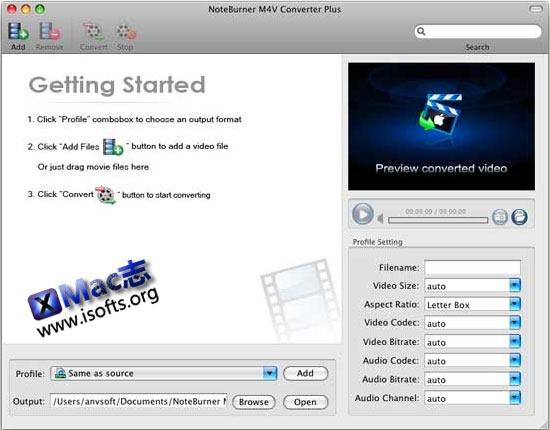 Mac平台的M4V视频格式转换器 : M4V Converter Plus