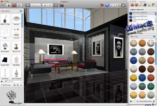 Mac平台的家居装修设计软件 : Live Interior 3D Pro