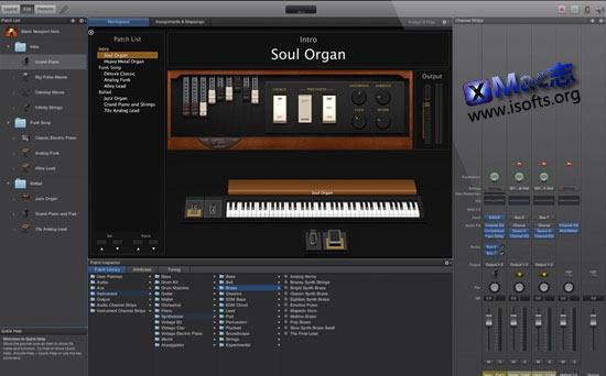 Mac平台专业的录音室工具 : MainStage