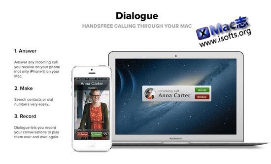 让Mac接打iPhone电话的实用工具 : Dialogue
