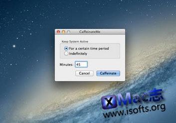 让Mac电脑在指定时间内或是一直不进入睡眠 : CaffeinateMe