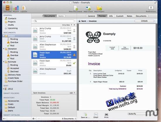 Mac平台专业的个性化票据设计工具 : Kedisoft Totals