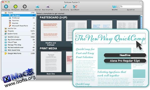 Mac平台专业的字体管理工具 : Suitcase Fusion 7