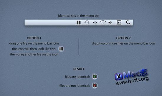 判断Mac电脑中的两个或多个文件是否相同 : Identical