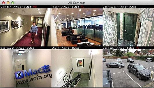 Mac平台的监控摄像头管理软件: SecuritySpy