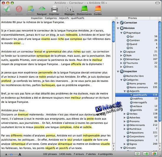 Mac平台优秀的法语学习软件:Antidote