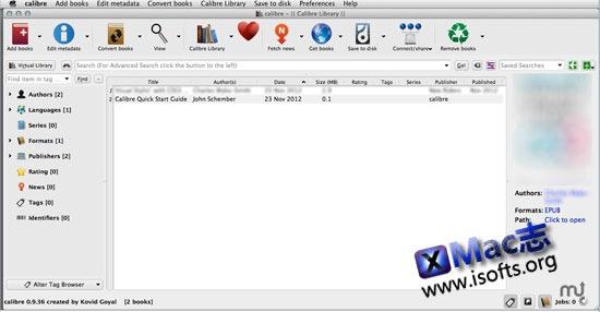 Mac平台优秀的电子书阅读及管理工具 : Calibre for Mac