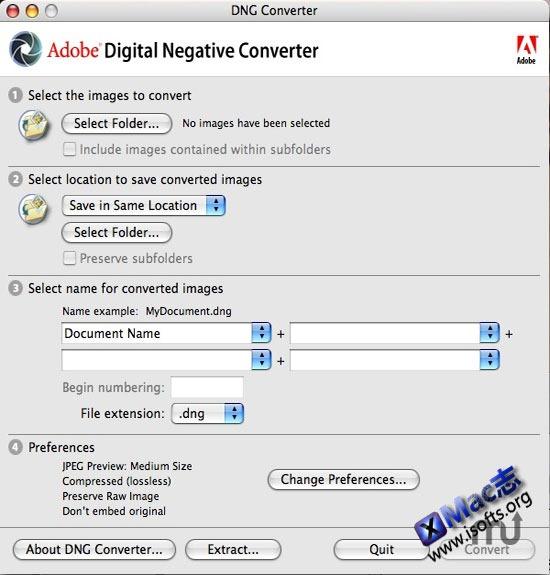 Mac平台的DNG图片格式转换工具 : Adobe DNG Converter for Mac