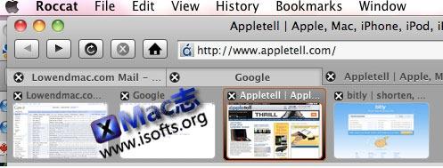 Mac平台快捷方便地网页浏览器 : Roccat for Mac