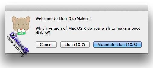 一键制作Mac OS X安装U盘或光盘 : Lion DiskMaker