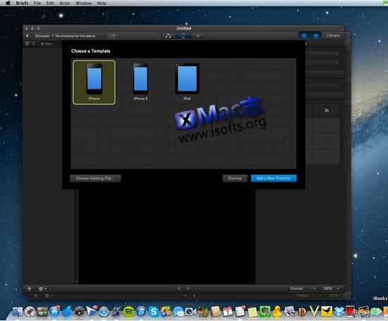 [Mac]专为iOS开发设计的界面原型制作工具 : Briefs