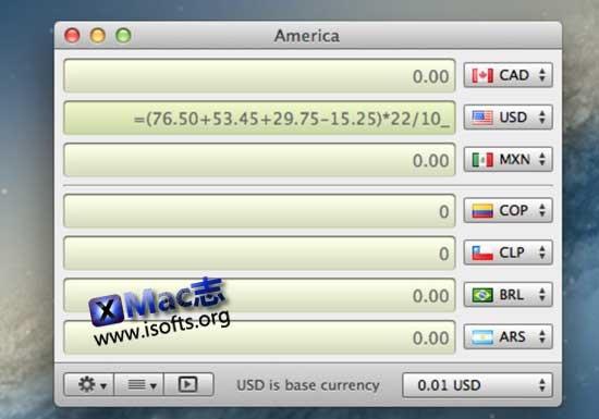 [Mac]实时汇率货币兑换计算工具 : Currency Assistant