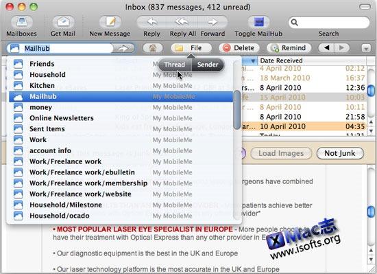 [Mac]最好的邮件管理工具 : Mailhub