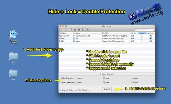 [Mac]给文件夹及文件加密 : File Locker