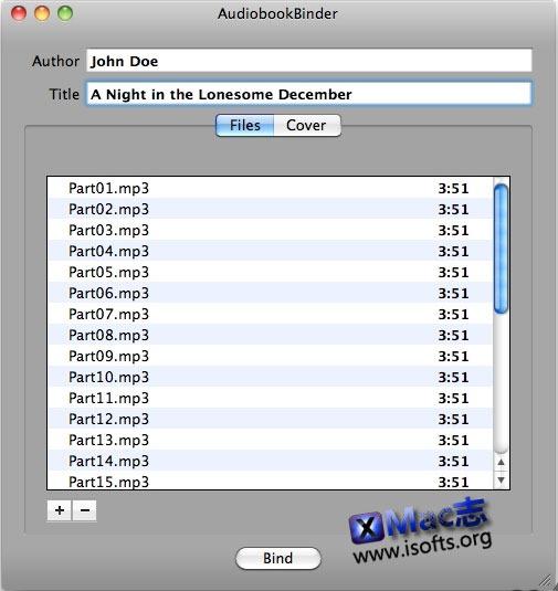 [Mac]mp3转M4B格式转换器 : AudioBook Binder