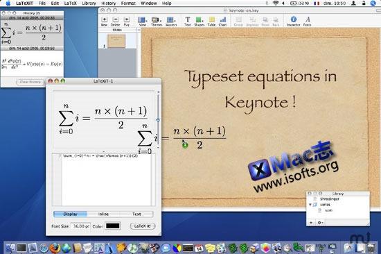 [Mac]支持拖拽输出的数学公式输入工具 : LaTeXiT