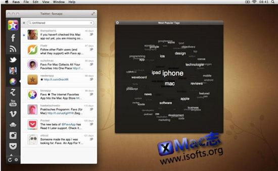 [Mac]在线资讯RSS应用:Favs