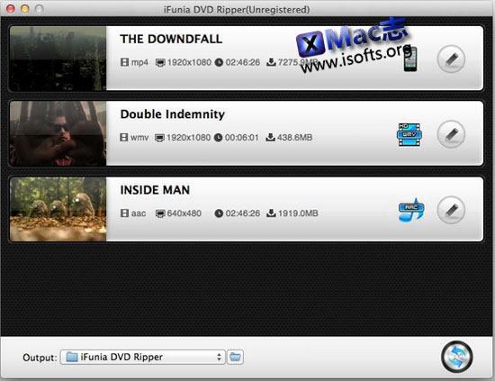 [Mac]dvd格式转换器 : iFunia DVD Ripper
