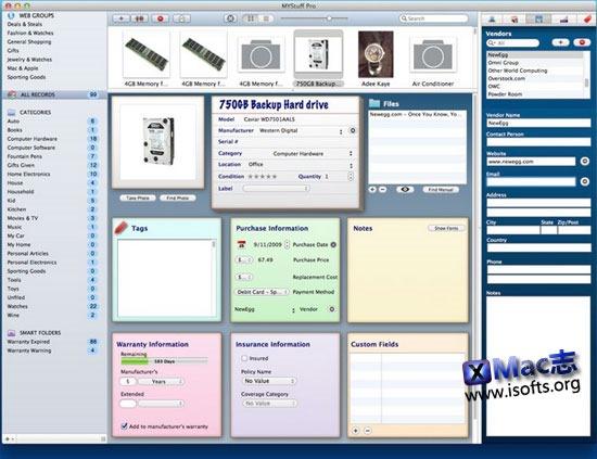 [Mac]事务管理中心 : MYStuff Pro
