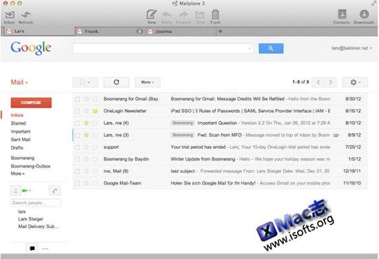 [Mac]本地Gmail邮件客户端 : Mailplane