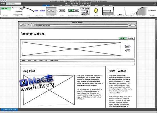 [Mac]产品原型设计工具 : Mockups