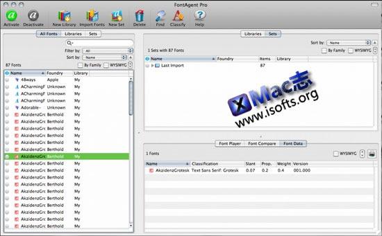 [Mac]专业的字体管理及修复工具 : FontAgent Pro